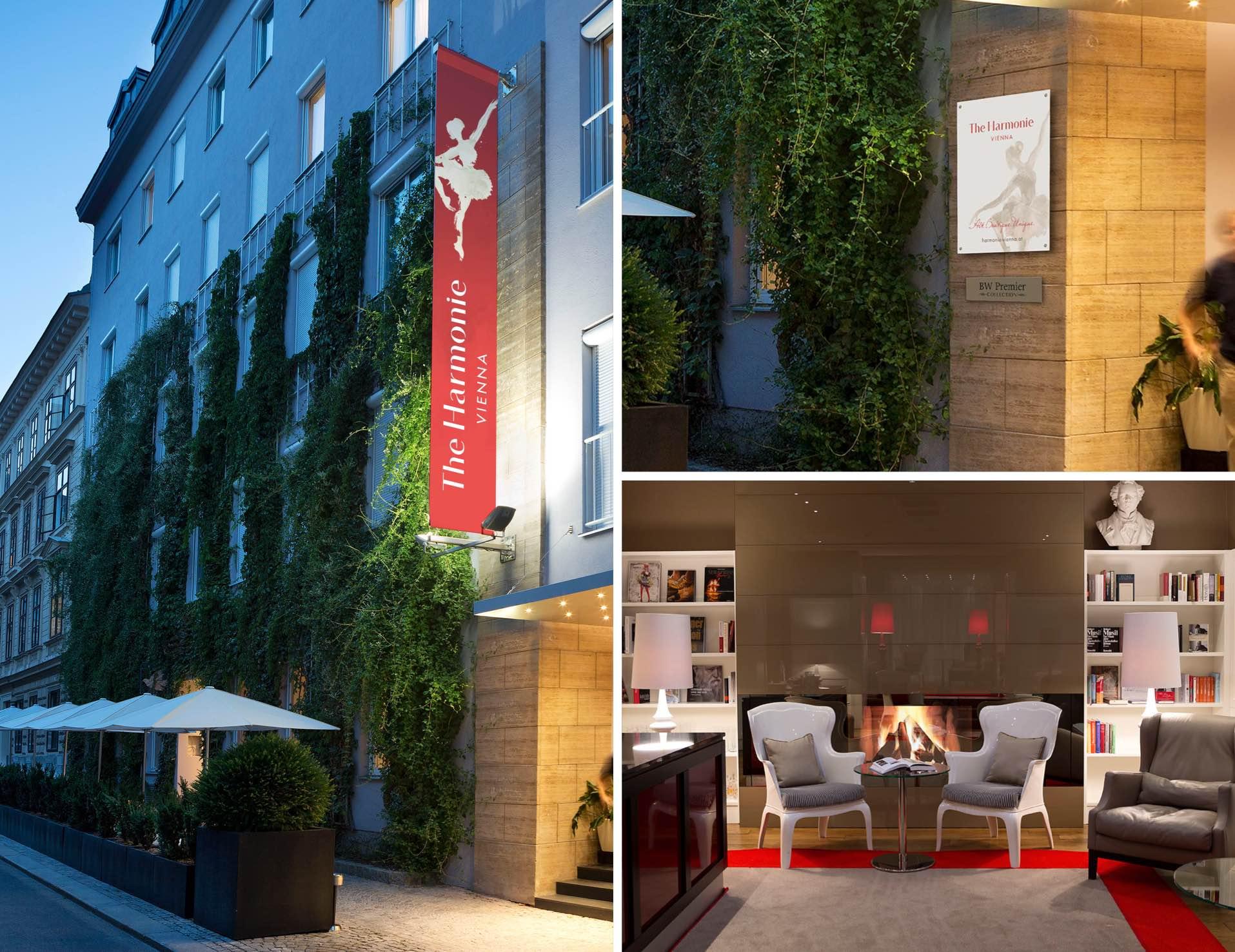 Corporate Design Webdesign Boutique Hotel The Harmonie Vienna